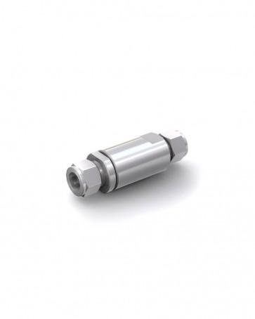 Rückschlagventil Edelstahl - Klemmring Rohr Ø 16 mm / Klemmring Rohr Ø 16 mm - max. 150 bar - DN 14 mm