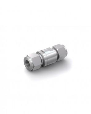 Rückschlagventil Edelstahl - Klemmring Rohr Ø 12 mm / Klemmring Rohr Ø 12 mm - max. 150 bar - DN  6 mm
