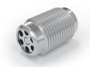 "Einschraubventil Edelstahl - AG G1/8"" / AG G 1/8"" - max. 250 bar - DN 3,6 mm"